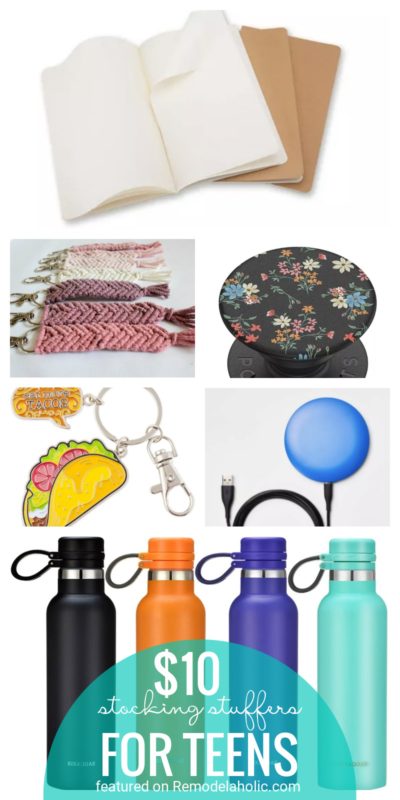 $10 And Under Stocking Stuffers For Teens! Tons Of Great Ideas Featured On Remodelaholic.com
