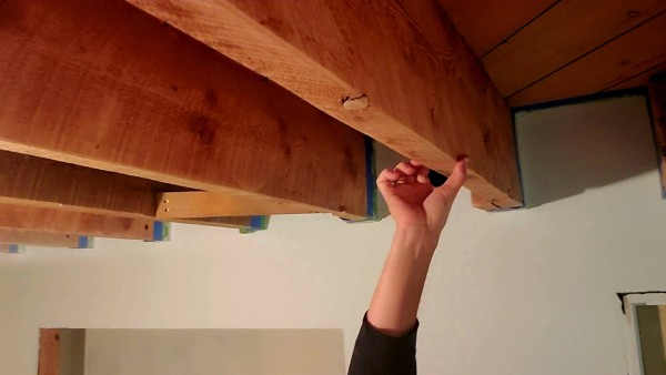 basement remodel open joist wood beam ceiling