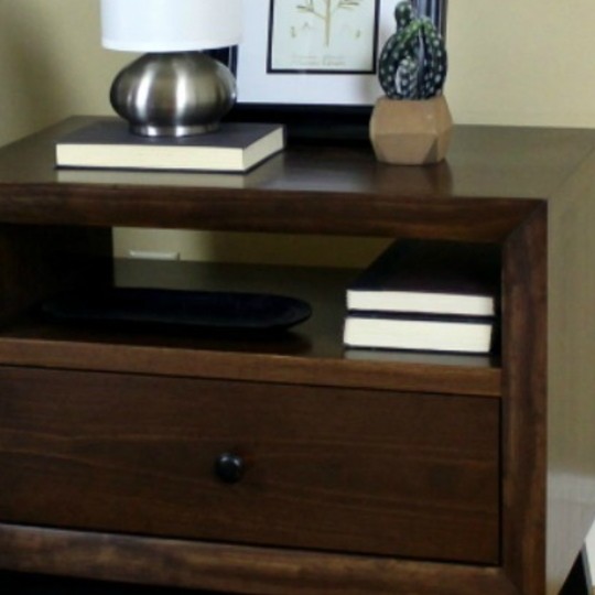 DIY Chunky Solid Wood Nightstand