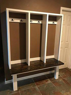 DIY Mudroom With Bench And Coat Hangers