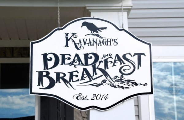 Dead And Breakfast Sign For Halloween