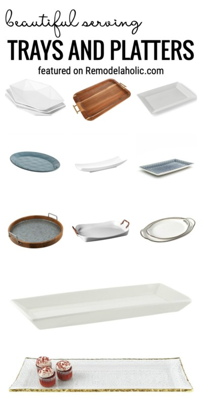 Find All Of The Best Beautiful Serving Trays And Platters For Your Next Big Meal Featured On Remodelaholic.com