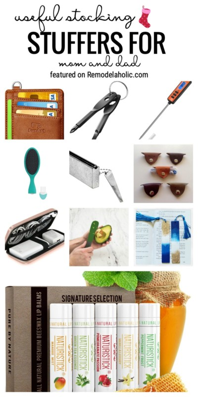 Find The Best Stocking Stuffers For Mom And Dad That Are Actually Useful. Find The Ideas At Remodelaholic.com
