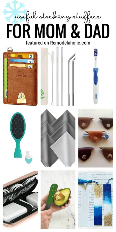 Great Ideas For Useful Stocking Stuffers For Mom And Dad Featured On Remodelaholic.com