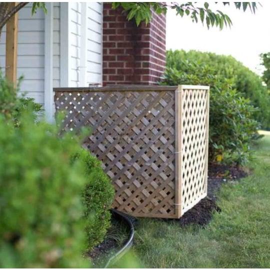 Hide Your AC Unit DIY Outdoor Air Conditioner Screen With Lattice