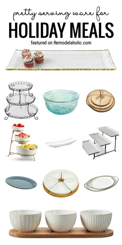 Pretty Serving Ware For Holiday Meals Featured On Remodelaholic.com