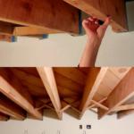 Basement Remodel Exposed Ceiling Open Floor Joists Wood Ceiling Beams #remodelaholic