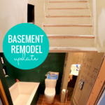 Basement Remodel Update, Fix Uneven Stairs, Bathroom Remodel, Exposed Ceiling #remodelaholic