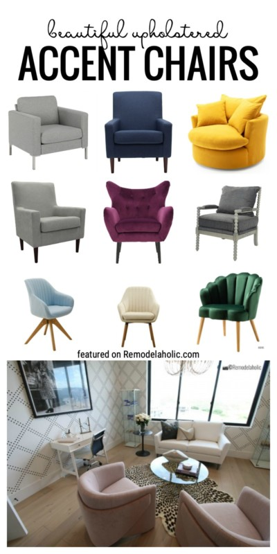 Find A Way To Add Extra Color Or Texture To A Room By Adding One Of These Beautiful Upholstered Accent Chairs Featured On Remodelaholic.com