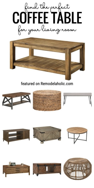 Find The Perfect Coffee Table For Your Living Room At Remodelaholic.com