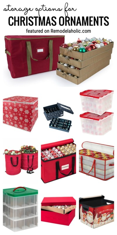 Find The Perfect Option For Christmas Ornament Storage Featured On Remodelaholic.com