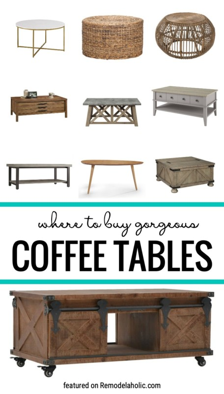Where To Buy And How To Style Gorgeous Coffee Tables Featured On Remodelaholic.com