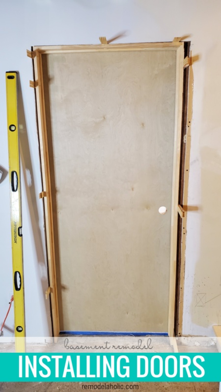 Install New Solid Wood Doors In A 1960's Basement Remodel, Remodelahohlic
