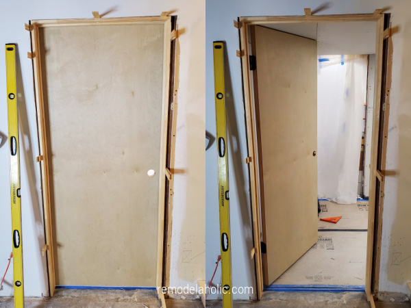 Installing New Solid Wood Doors 1960's Basement Remodel Remodelahohlic