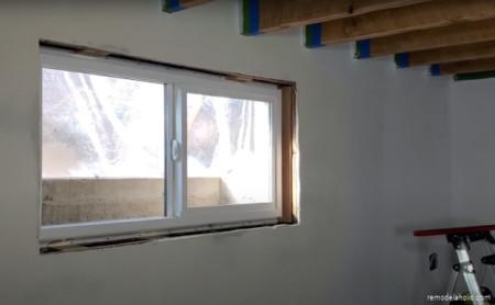 1960s Basement Remodel New Windows #remodelaholic