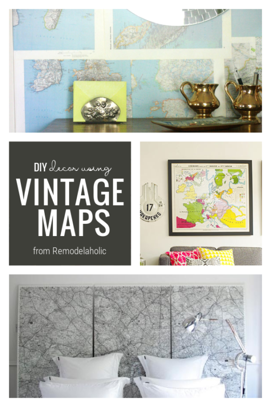 DIY Home Decor Ideas, Vintage Maps From Remodelaholic
