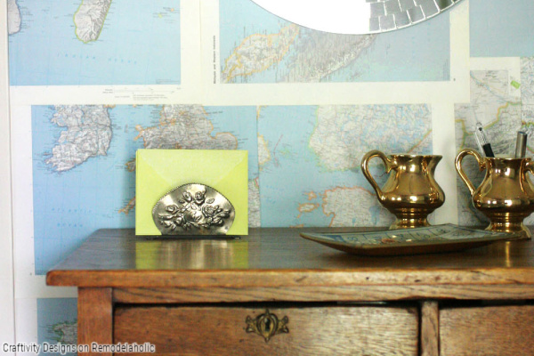 DIY Wall Decor Ideas, Map Wall With Vintage Maps On Remodelaholic