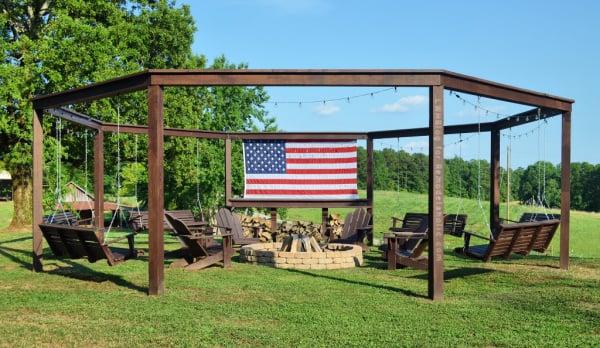 Diy Backyard Firepit Pergola For Swings Tutorial And Plans, LWH Blog For Remodelaholic