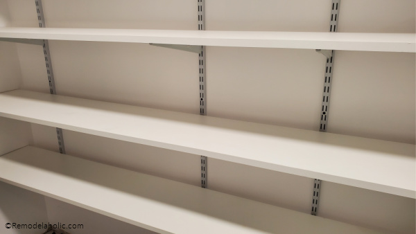 Easy Install Basement Storage, Track Shelving System, Remodelaholic (1)