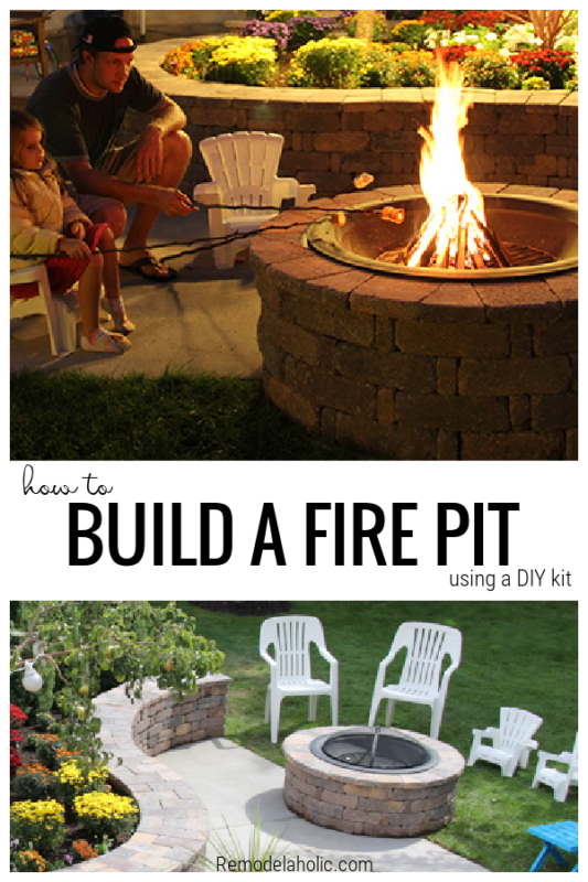How To Build A Fire Pit From A Kit, From Remodelaholic