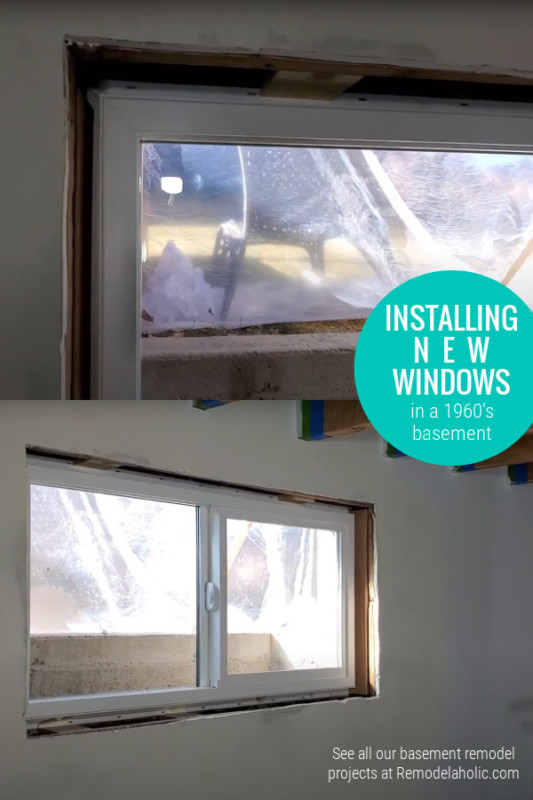 Installing New Windows In A Basement Remodel #remodelaholic