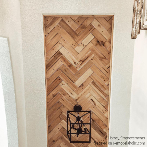 Diy Herringbone Pallet Wood Ceiling Tutorial For Inset Tray Ceiling, Home Kimprovements On Remodelaholic