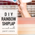 Diy Rainbow Shiplap Accent Wall Paint Colors, Modern Farmhouse Style, @home Kimprovements For Remodelaholic