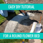 Easy DIY Round Raised Flower Bed Plans For Landscaping Your Yard #remodelaholic