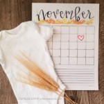 Easy Pregnancy Announcement Idea Print Due Date Calendar For Photos Remodelaholic