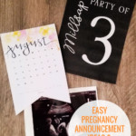 Easy Pregnancy Announcement Ideas And Printables Instant Download Remodelaholic