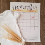 Easy Printable Pregnancy Announcement Calendar For Instagram Facebook, Instant Download Remodelaholic