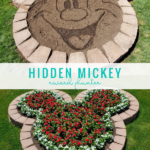 Hidden Mickey Flower Bed Diy Raised Planter Disney Landscaping Idea #remodelaholic