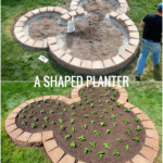 How To Build A Mickey Shaped Planter Using Landscape Blocks Remodelaholic
