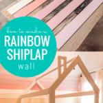 How To Paint A Colorful Ombre Rainbow Shiplap Wall For A Little Girl's Bedroom @home Kimprovements For Remodelaholic