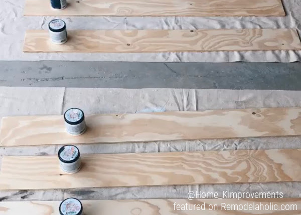 How To Prep A Shiplap Boards For An Accent Wall, Home Kimprovements For Remodelaholic (1)