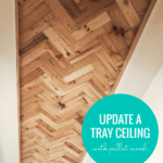 Idea How To Update A Tray Ceiling With Reclaimed Pallet Wood, Farmhouse Entry, Home Kimprovements On Remodelaholic