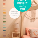 List Of Paint Colors For DIY Rainbow Shiplap Accent Wall For Kids Bedroom Wall, Home Kimprovements For Remodelaholic