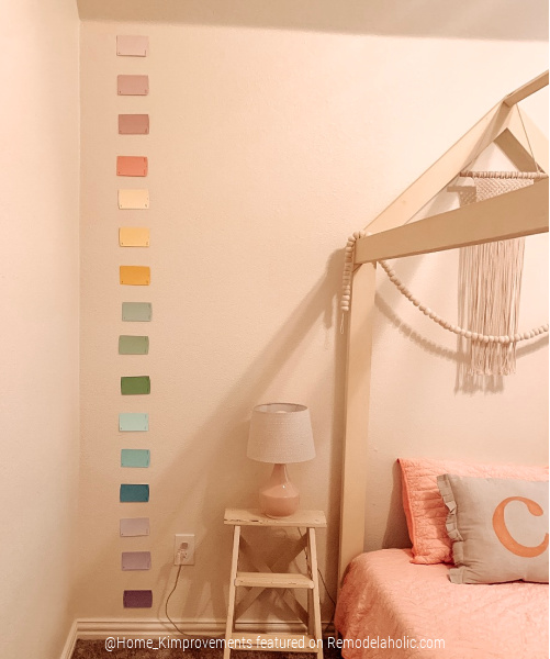 Paint Colors List For DIY Rainbow Shiplap Accent Wall For Kids Bedroom Wall, Home Kimprovements For Remodelaholic