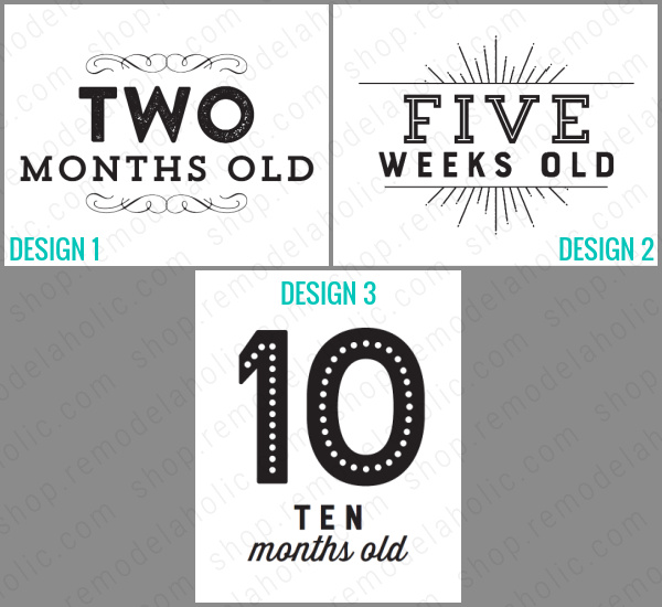 Printable Baby Milestone Card Signs For Monthly Photos Instant Download Remodelaholic