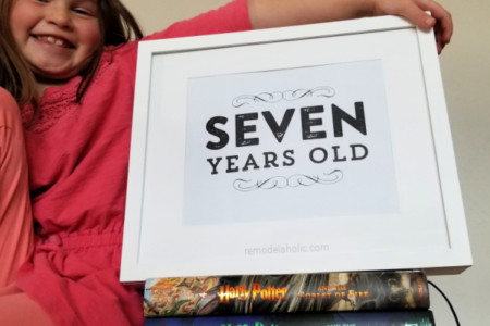 Printable Birthday Photo Signs For Kids Pictures, Remodelaholic