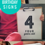 Printable Birthday Signs For Easy Photo Shoot Prop, Remodelaholic