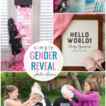Simple Gender Reveal Photo Ideas, Remodelaholic