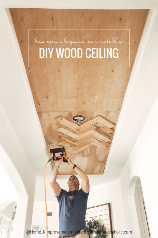 Tutorial Beginner DIY Idea, Update A Tray Ceiling With Reclaimed Pallet Wood, Home Kimprovements On Remodelaholic