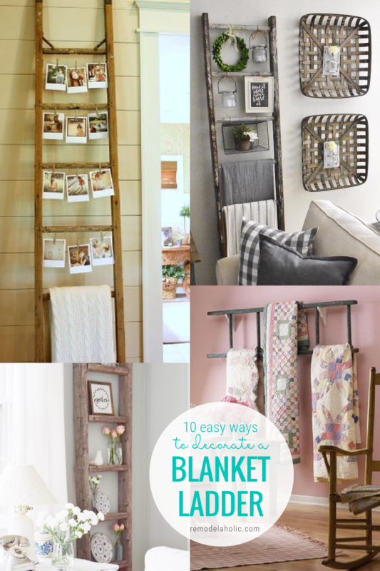 10 Easy Ways To Decorate A Blanket Ladder Remodelaholic