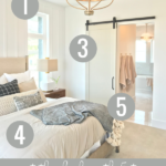 5 Tips For Creating A Beautiful White Farmhouse Master Bedroom Featured On Remodelaholic.com