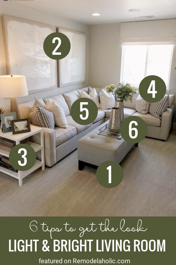 6 tipp a szoba felújításához.  Világos és világos nappali tekintse meg a Remodelaholic.com oldalt
