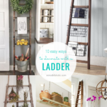 Easy Ladder Decorating Ideas For Blanket Ladders And DIY Wood Ladders Remodelaholic