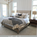 Tips For Creating A Beautiful White Farmhouse Master Bedroom Featured On Remodelaholic.com