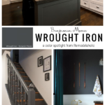 Wrought Iron By Benjamin Moore Is Perfect For Trim, Walls, Interior And Exterior Doors, From Remodelaholic