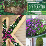 Creative DIY Outdoor Planter Ideas For Flower Beds, Remodelaholic